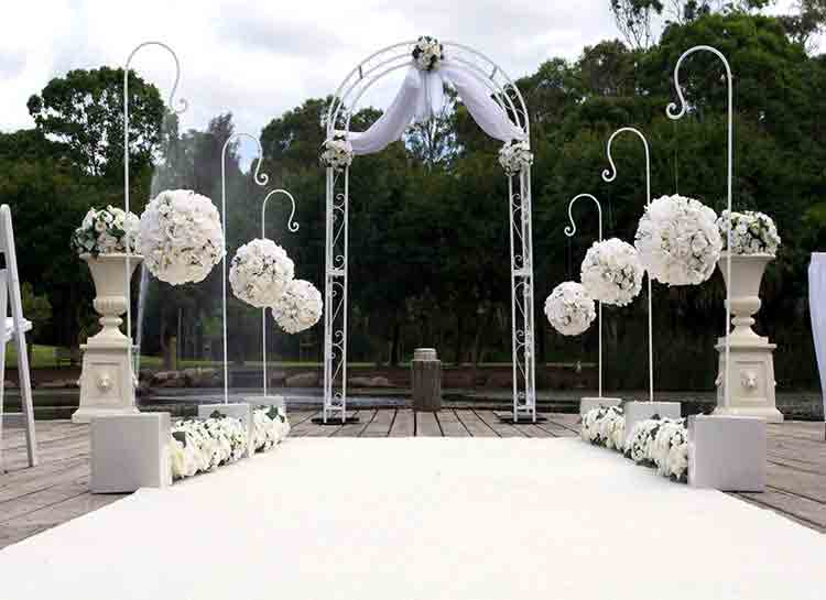 Ceremony Decoration Hook & Ball and Wedding Arch