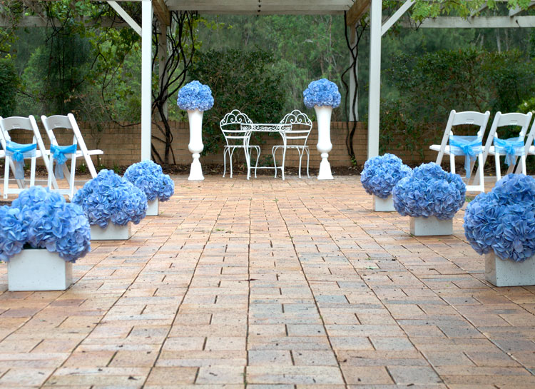 Wedding Ceremony Package in stunning blue