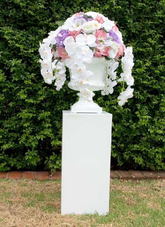 Pedestal & Floral Urn