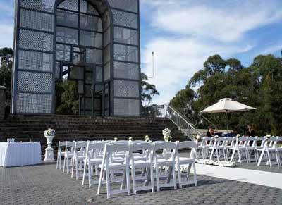 Treillage Wedding Ceremony Setup