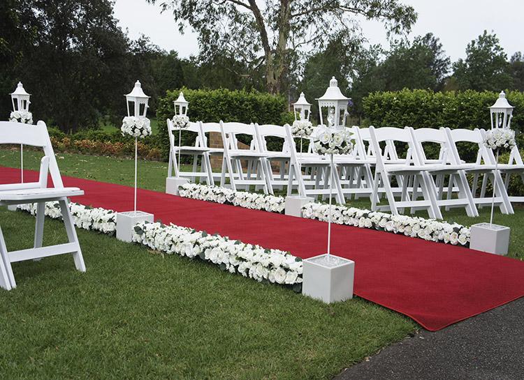 Crystal Lantern Aisle Ceremony Decorations