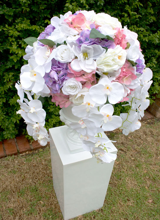 Pedestal & Floral Urn Wedding Decoration Hire