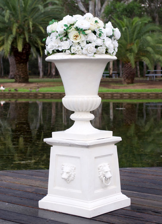 Rustic-Pedestal-&-Floral-Urn