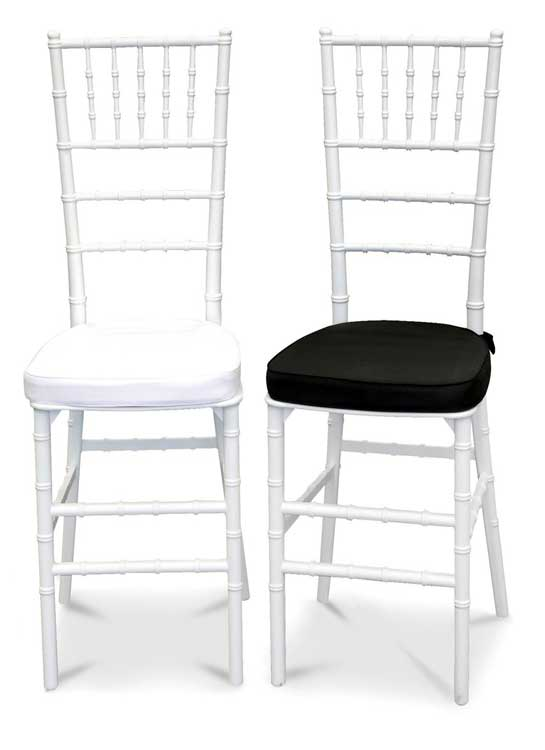 Tiffany Chairs with White or Black Cushion
